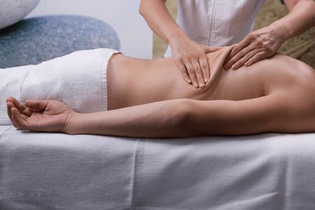 Back kneading massage technique