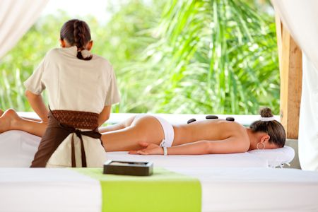 Hot Stone Massage by the Beach
