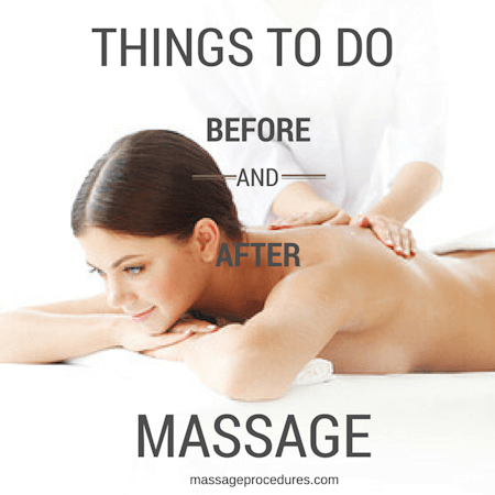 Things to do before and after massage